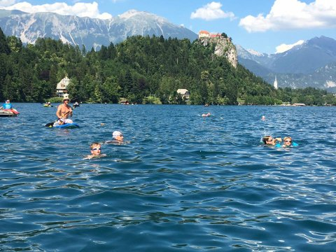 Slovenia 2016 - Swimming Lake Bled