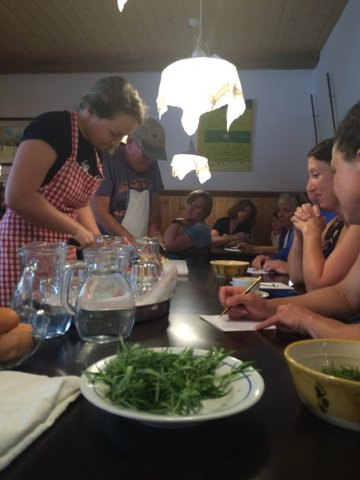 Slovenia 2016 - Cooking Class at the Kunstelj