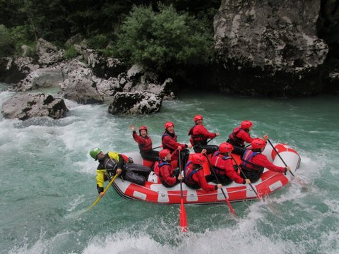 Slovenia 2016 - Rafting the Soca River